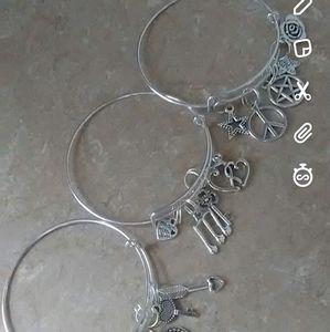 3 charm bracelets